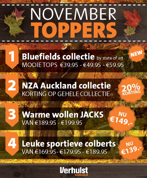 November Toppers
